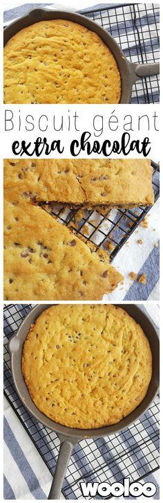 Gâtez-vous avec cette recette de biscuit géant extra chocolat! #recette #chocolat