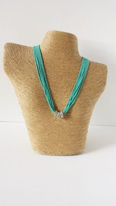 Turquoise necklace ring pendant necklace ring by StephanieMartinCo, $26.00