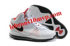 2fd72f726f34 Nike LeBron 8(VIII) Shoes V2 White Black Red
