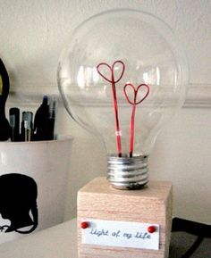 Valentine Lightbulb | DIY Valentine Gifts for Husband | Boyfriend