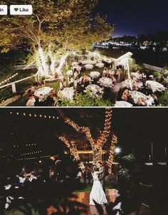 Night wedding - beautiful lighting
