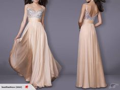 Evening Dresses Champagne Beading V-neck SZ 8-10 | Trade Me