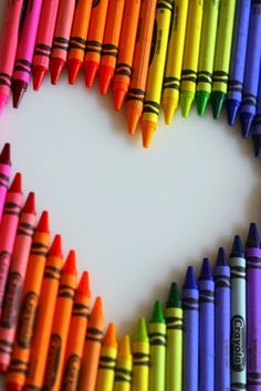 If your board and have nothing todo then go find crayons and poster board. You can make all kind of designs and shapes or anything u want. This is a very cute crayon heart. Feel free to try it.