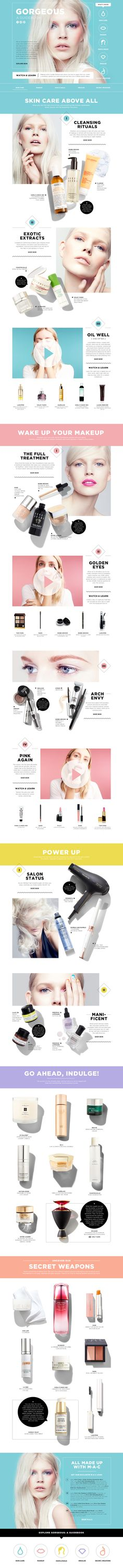 Love this layout as well, it feels a little busy, but I like the use of space and color Cosmetic Web, Cosmetic Design, Web Layout, Layout Design, Mood Board Fashion, Mises En Page Design Graphique, Ecommerce, Event Banner, Promotional Design