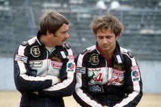 1983 - JPS Lotus drivers Nigel Mansell and Elio de Angelis