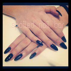 Fancy black stiletto tips Black Stilettos, Nail Bar, Pedicure, My Nails, Fancy, Art, Art Background, Pedicures, Kunst