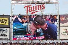 How cool is this! Congrats Cortney and Justin! #mntwins @Minnesota Twins