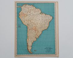South America Geology   Etsy Surface Note, South America Map, Hd Photos, Geology, Large Prints, Vintage Prints, Artwork Prints, Fine Art Paper, Canvas