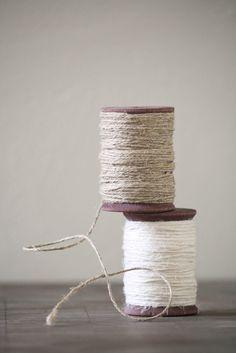 Belgian Linen Twine - Olive Manna Textiles & Paper Goods