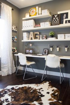 Grado Design & Photography home office interior design, home office, work space, ikea, hobby lobby, world market, photography,  photographers office, PASS, shoot and share, jeff lewis paint, white collar, perfect storm, hardwood floors, cowhide rug