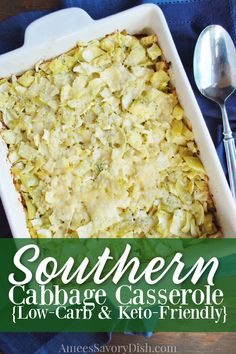 Cabbage Casserole is a vintage recipe made with fresh cabbage, eggs, butter, and cream. The recipe originated from my great grandmother's cookbook published in the 1800s. #ketocasserole #ketosidedish #ketorecipe via @Ameessavorydish Low Carb Side Dishes, Side Dish Recipes, Low Carb Recipes, Cabbage Casserole, Keto Casserole, Casserole Recipes, Baked Cabbage, Low Carb Veggies, Low Carb Casseroles