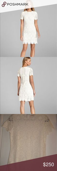 🌺Tory Burch Trixy crochet ivory white dress M Gorgeous ivory cream crochet lace dress from Tory Burch. Worn once to a graduation, in VVVEC!! Would be perfect for a summer garden party, baptism or any other occasion. Really beautiful, and I hate to part with it. But it no longer fits, so it needs a new home! Would fit an 8-10 easily! 🌺 Tory Burch Dresses