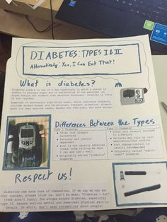 Diabetes awareness poster for my health class!