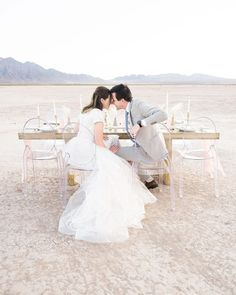 Victoria ghost chairs paired with BloomingBelles Rentals Sonoma table and a desert landscape makes for a dreamy desert elopement in Las Vegas. latter-day bride Latter Day Bride, Ghost Chairs, Wax Stamp, Las Vegas Weddings, Be Perfect, Atlanta, Victoria, Stylists, Wedding Dresses