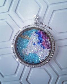 Do you see the unicorn? Made with Origami Owl Swarovski crystals…