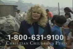 Sally Struthers in Africa for ChildFund  be careful who your giving your money to!