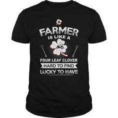 I Love Farmer four leaf clover T-Shirts