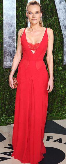 Diane Kruger at Vanity Fair party in Calvin Klein