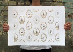 Yoga Goddesses  £40  #screenprint #print #art #illustration #drawing #gift #lauriehastings
