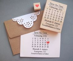 Save the Date Stamp Set DIY Calendar Stamp with by stampcouture. Very cool and quite cheap DIY save the date idea Save The Date Stamp, Diy Save The Dates, Wedding Stationary, Wedding Invitations, Calendrier Diy, Diy Calendar, Custom Stamps, Diy Wedding, Trendy Wedding