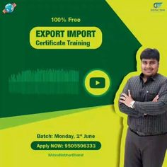 Digital Exim आप के लिए लाया है FREE Export Import Course जो बदल देंगे आपके Business करने का तरीका।  . Limited Seats Only - Register Now  Drop Your Number in Comment.  .  जानना चाहेंगे के ये सब कैसे मुमकिन होगा? .  📞Call करे 👉🏻 9505506333  #DigitalExim #exportimport #import #export #importer #exporter #incoterms #clearingandforwarding #foreigntrade #globalbusiness #business #cargo #port #trade #transportation #freightforwarding #entrepreneur #exportquality #exporting #importexport… Business Requirements, Digital Marketing, Management, How To Apply, Train, Strollers