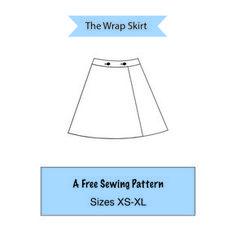 The Wrap Skirt: A Free Sewing Pattern, Sizes XS-XL