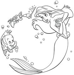 Print Ariel With Pearls Little Mermaid S1457 Coloring Pages