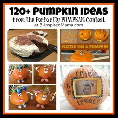 120+ Perfectly #Pumpkin Ideas from the 2012 Perfectly Pumpkin Contest at B-InspiredMama.com