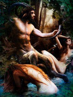 Sátiro y ninfas, de Bruno Wagner