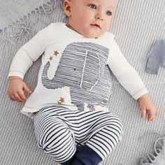 2pcs-Baby-Clothes-Boy-Elephant-Shirt-Pants-Pajamas-Kids-Sets-Outfit-for-0-4Y
