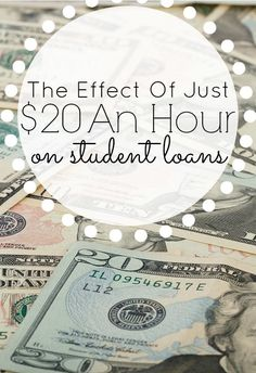 The Effect of Just $20/hr on a Student Loan. Do you have student loans? If so, read this post so that you can find ways to pay it off quickly. student loan debt student loan debt payoff #debt #studentloan