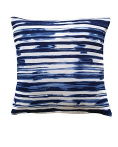Navy and White Pillow Cover / Striped Blue and White by Sofapop