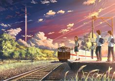 Alone anime girl manga metro place sky ! Anime Scenery Wallpaper, Anime Artwork, Japanese Animated Movies, Graphisches Design, Scenery Pictures, Aesthetic Anime, Anime Style, Studio Ghibli, Exterior