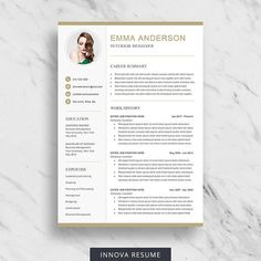 Professional  Modern Resume Template For Word Angelica