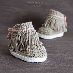 Crochet PATTERN. Dakota baby sneakers. Instant Download.