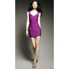 Herve Leger's Purple Bandage Dress