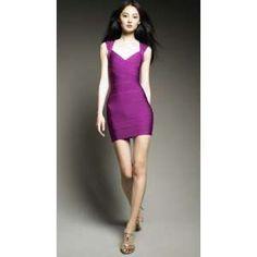 Herve Leger's Purple Bandage Dress