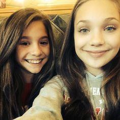 Maddie and Kenzie at Panera
