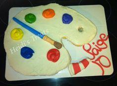 Panting art pull apart cupcake cake