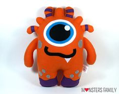 Personalized Pillow Custom Plush Monster Toy by MonstersFamily