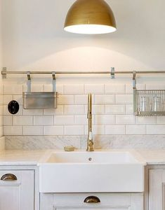 White gray and antique brass