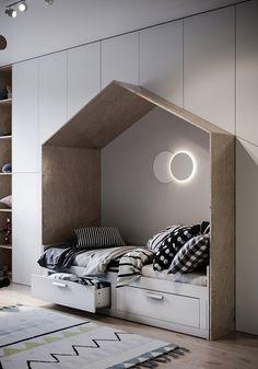 Simplicity beauty on Behance Boy Toddler Bedroom, Boy Room, Kids Bedroom, Small Toilet Design, Dressing Room Design, Building A New Home, Kids Room Design, Baby Room Decor, Kid Spaces