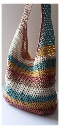 Free Crochet Bag, Crochet Market Bag, Crochet Tote, Crochet Handbags, Crochet Purses, Easy Crochet, Knit Crochet, Bag Sewing Pattern, Crochet Purse Patterns