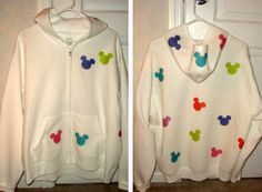 Clever way to DIY your own #Disney hoodie