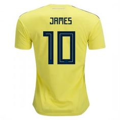 4093598b9d3 2018 World Cup Jersey Colombia James Home Replica Yellow Shirt 2018 World  Cup Jersey Colombia James Home Replica Yellow Shirt