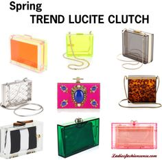 """Spring Trend LUCITE Clutch"" by ladiesfashionsense on Polyvore"