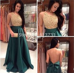 2015 New Fashion prom dress, High Neck prom dress,  A Line prom dress Dark Green Evening Dresses ,Taffeta Prom Gown, Long prom dress,15040901
