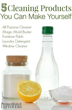 5 Easy (and frugal) recipes for cleaning products you can make yourself