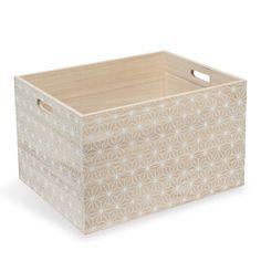 Aufbewahrungsbox GRAPHIQUE aus Holz, 26 x 43cm