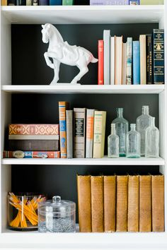 #bookshelf, #home-decor  Photography: Caroline Lima Photography - www.carolinelima.com  View entire slideshow: Chic Renter Hacks on http://www.stylemepretty.com/collection/1609/